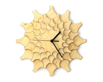 Cogwheel - unique stylish  wall clock made of wood, wall art