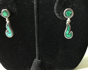 STERLING & MALACHITE Earrings