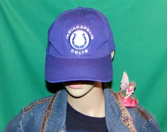 Indianapolis Colts Hat, Vintage Embroidered Baseball Cap, RARE Find FAST & LOW Shipping