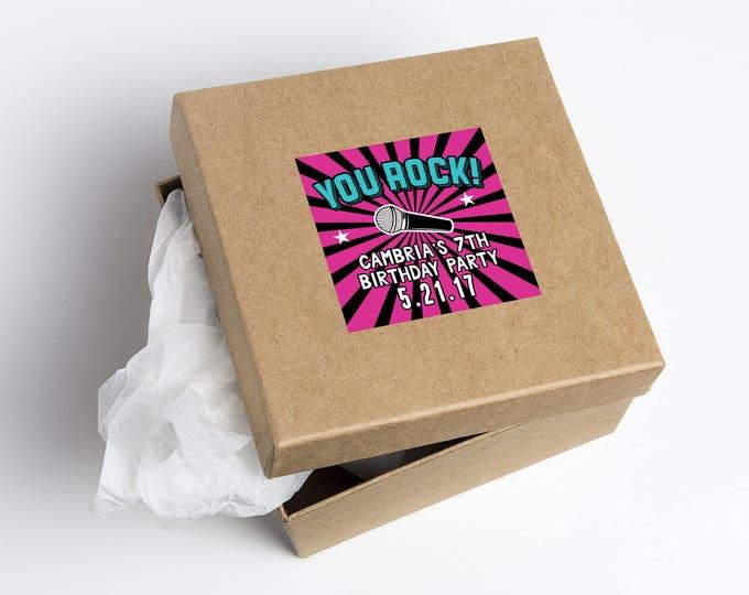 Digital party favor sticker, Rock Star birthday, Swag bag, boy birthday, personalized label, rock star party, rock star birthday, pop star