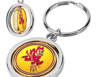Arizona State Sun Devils Spinner Keychain