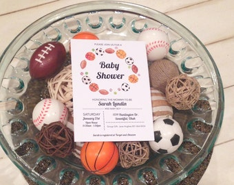 Sports Baby Shower Invite