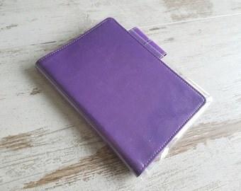 A6 hobonichi cover purple