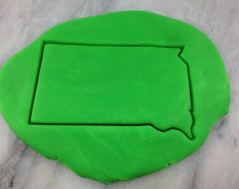 South Dakota Cookie Cutter Outline - SHARP EDGES - FAST Shipping - Choose Your Own Size!
