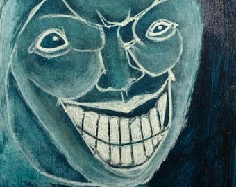 Original Painting Monster ACEO Outsider Folk Art Horror Monsters Collectible Trading Card Mixed Media Strange Whimsical Creepy Weird Stuff