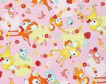 fat eighth, fat quarter, 1/2 meters / Japanese fabric / kawaii fabric / retro fabric / kitch fabric / strawberry fabric / spring fabric /