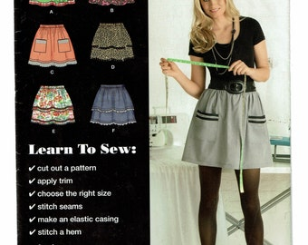Simplicity Pattern 0443 Misses Pull-On Skirt Size A (6-18) UNCUT