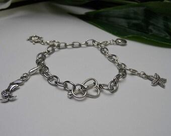 Girls Mermaid Charm Bracelets,  charm bracelet, girls birthday gifts, sea charm bracelets, charms bracelets