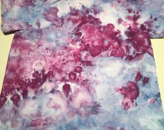 Small kids purple berry ice dye tshirt hanes small KS14