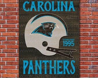 Carolina Panthers - Vintage Helmet - Art Print - Perfect for Mancave
