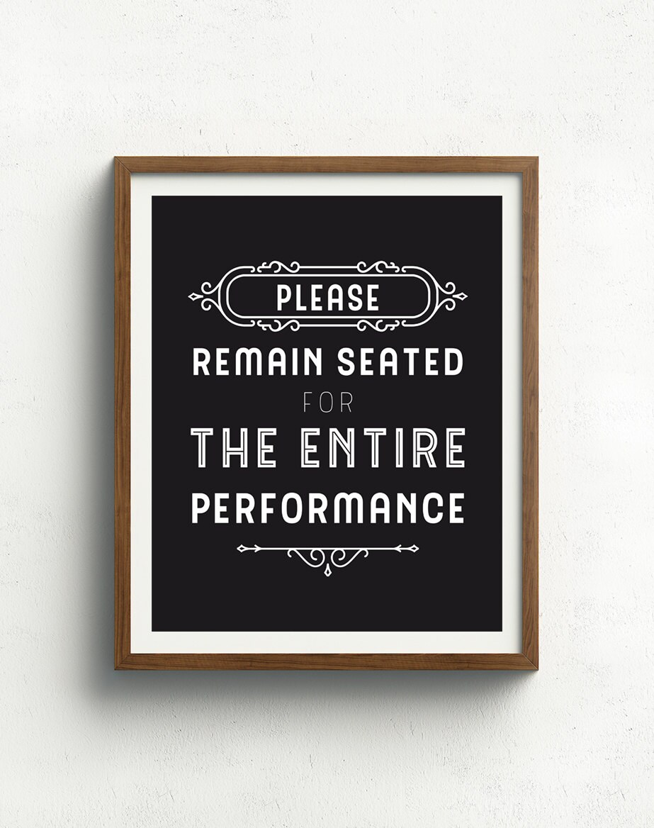 Funny bathroom signs for cleanliness - Bathroom Art Funny Bathroom Sign Please Remain Seated Bathroom Quote Bathroom Typography Black And White Bathroom Print