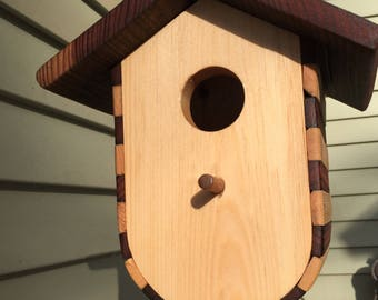 Long bird house. Deep bird house.shipping included.