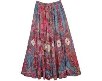 Tapestry Lotus Tie Dye Skirt