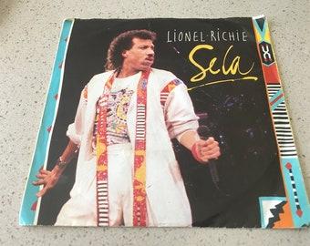 "LIONEL RICHIE original VINYL "" Se La "" / Original 45 Rpm with Picture Sleeve / Vinyl Record / Motown 1986"
