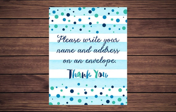 address an envelope sign please write your name and address