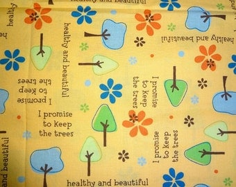Fabric, Save the Trees, Tree Keeper, Evironmental Fabric, Fabric by the Yard, Novelty Fabric
