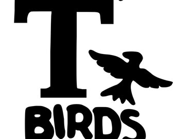 Grease, T Birds iron on vinyl