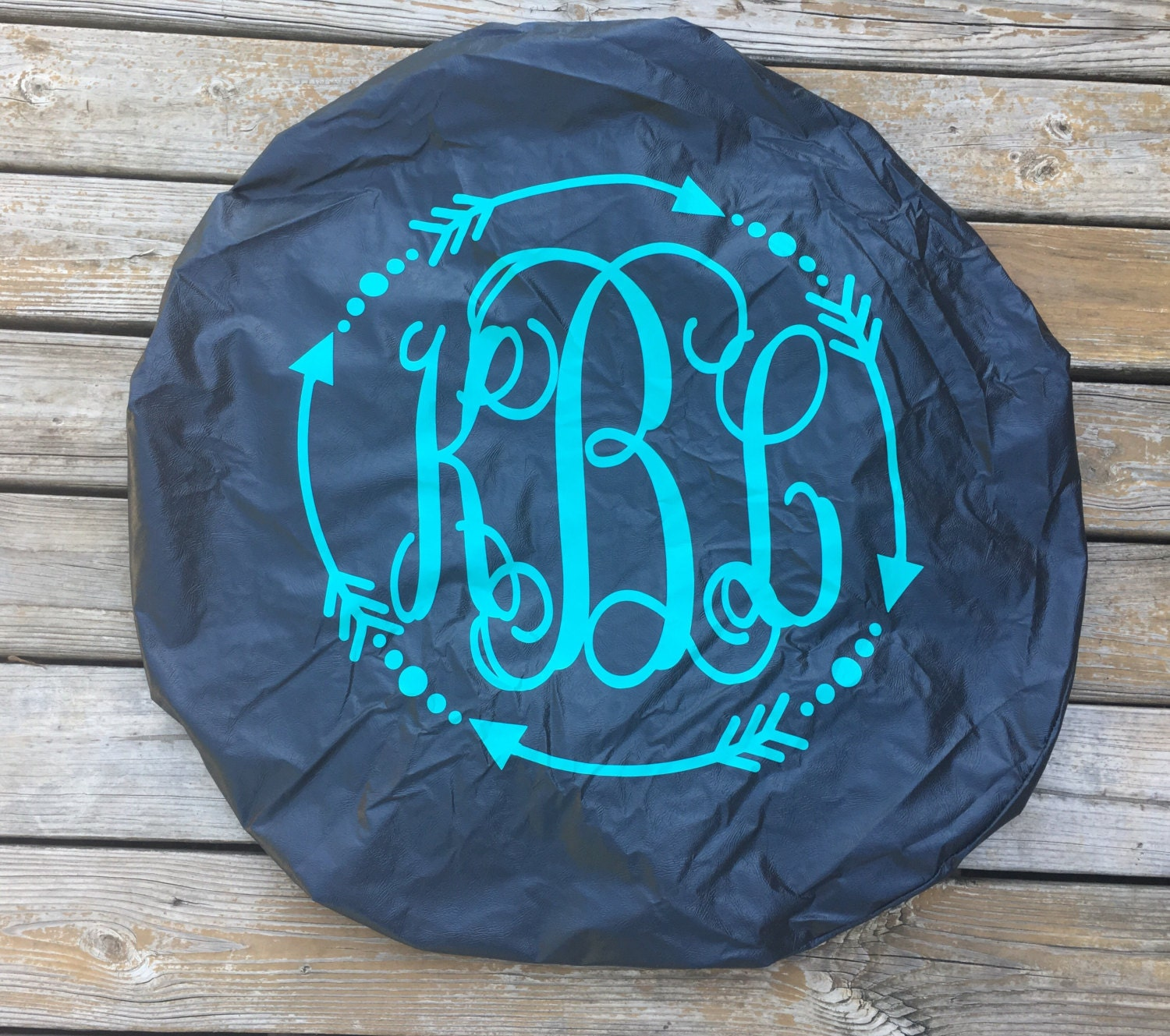 Spare Tire Cover W Vinyl Monogram