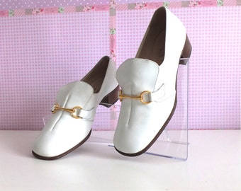 MANFIELD - shoes for women - white shoes - vintage-1970 shoes-shoes - white pumps - weeding, weeding pumps - shoes Made in England