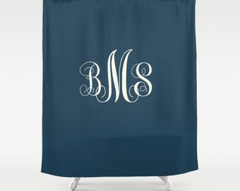 "Custom Shower Curtain -  71"" by 74"" Home, Decor, Bathroom, Bath, Dorm, Girl, Christmas, Gift, Initials, Monogram, Color, Boho, Custom"