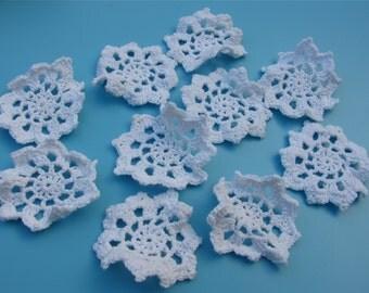 10pcs Cotton Crochet applique,7cm circle applique