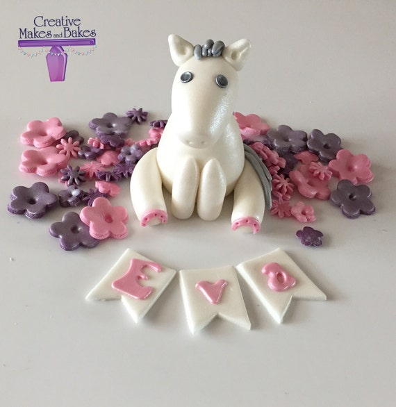 Pony Horse Edible Cake Topper Sugar Fondant Decoration
