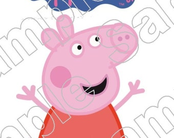 Peppa Pig Iron On Shirt Transfer #4
