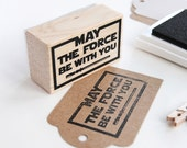 May the force be with you stamp, Star wars inspired stamp, Jedi order stamp, Star Wars party, Star Wars geeky gift, star wars party DIY