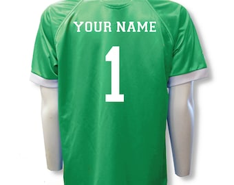 Short Sleeve Soccer Goalie Jersey Personalized with Your Name and Number