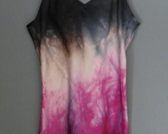 Silk cami, silk blouse, silk camisole, size M, hand dyed silk, silk pajamas, silk intimates, tank top