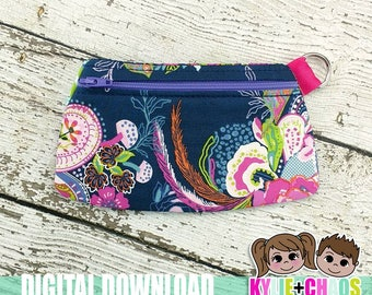 Clutch Zippered Pouch ITH Embroidery Design