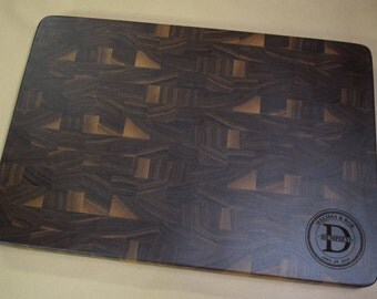 End Grain Walnut Butcher Block Cutting Board Engraved Name, Anniversary Gift, Wedding Gift, Appreciation Gift