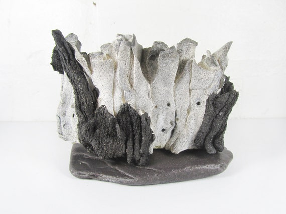Organic Form Sculpture - White and Black