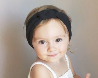 BLACK Sailor Knot Headwrap Baby/Toddler Sailor Knot