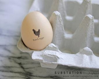 Original Mini Egg Stamp - Chicken Stamp - For Eggs - Egg Stamp - Fresh Eggs - Egg Carton Labels - Chicken Coop - Not Customizable