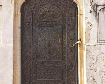 Door photo, wall art prints, India travel photography, indian door, wooden door photo, fine art print, wall art, travel print, traveler gift
