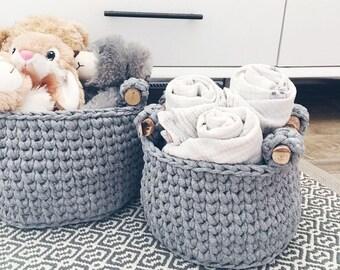crochet basket pattern / crochet storage basket / home decor crochet patterns / basket pattern crochet / crochet basket with handles / diy