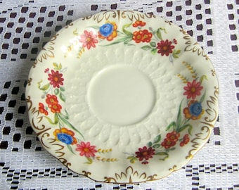 Royal Crown Derby CHATSWORTH H798 Embossed Bone China Replacement Saucer