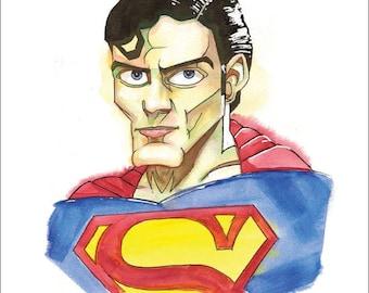 "Superman Print by Kevin L. Kuder - 8.5""x11"""