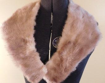 Vintage Mink Collar Champagne Mink Golden Mink Collar Fur Collar