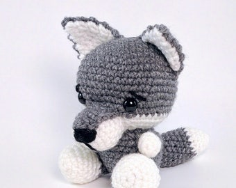 PATTERN: Crochet wolf pattern - amigurumi wolf pattern - crocheted gray wolf pattern - wolf toy tutorial - PDF crochet pattern
