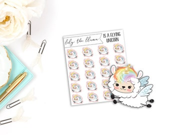 Lily the Llama is a Flying Unicorn | Character Stickers