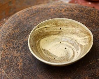 Handmade stoneware bowl in hakeme decoration - Tea bowl - Breakfast / serving bowl