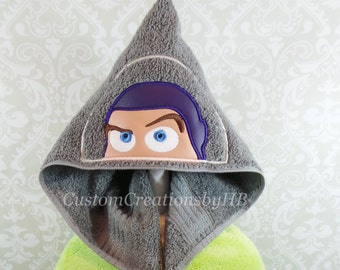 Buzz Lightyear Inspired Hooded Towel on High Quality Belk Department Store Towel