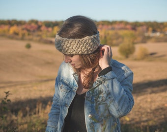Crocheted headband/Colors selection/The Tracy headband