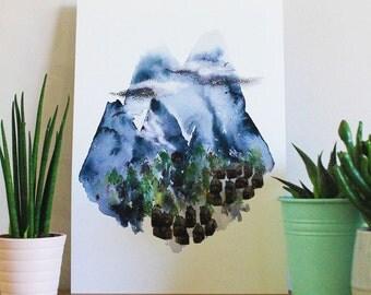 Alpine Village - An A4 Artists Print