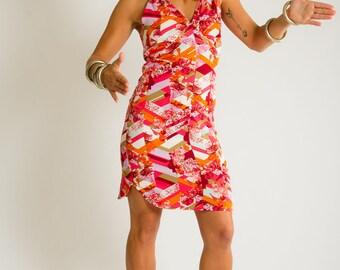 Dress JOANITA Dolce vita Orange pop vintage