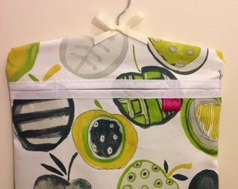Peg Bag, Laundry, Pin Bag, Lemon, Lime, Fresh, Kitchen Kitsch, Kitchen Ware, Napery