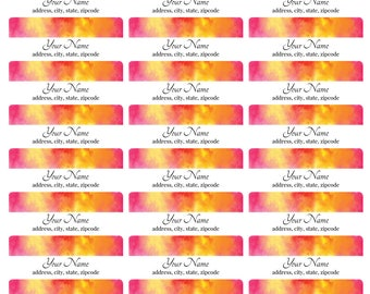 Pink Fire Address Labels