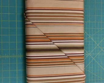 Lauren fabric. Brown tan stripe lines quilters cotton Quilting Treasures 1651